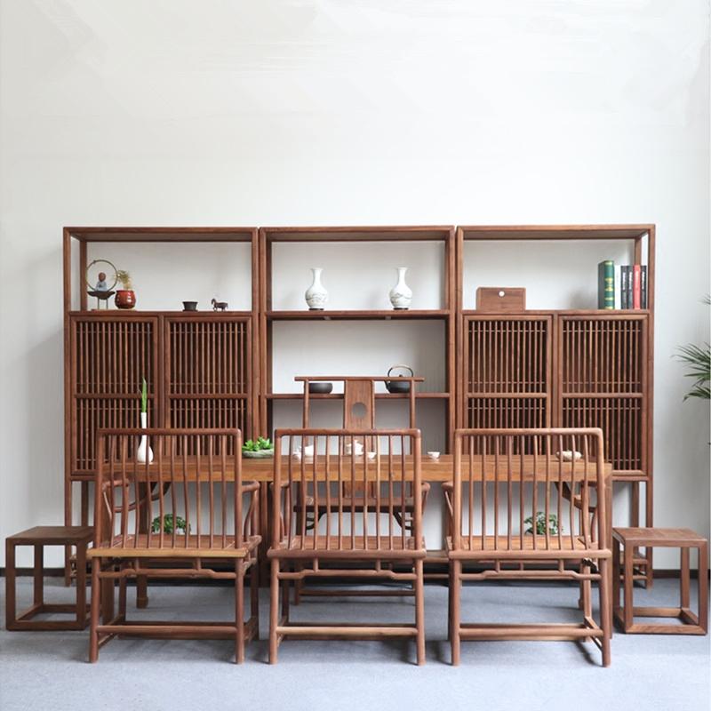 新中式北美黑胡桃茶桌