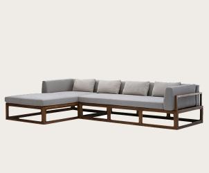 榆木组合转角沙发