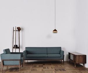 榆木组合沙发