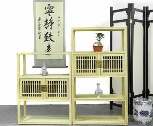 榆木书柜 茶叶柜